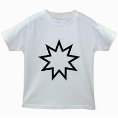Baha i Nine-Pointed Star Kids White T-Shirts