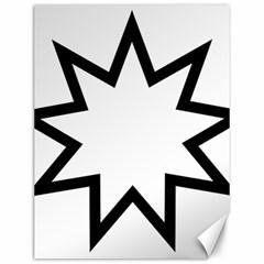 Baha i Nine-Pointed Star Canvas 12  x 16