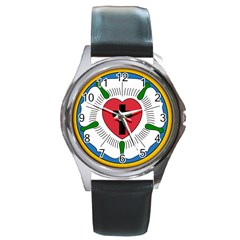 Luther Rose  Round Metal Watch