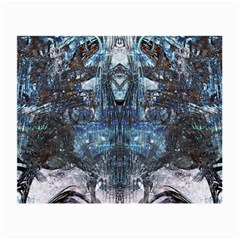 Angel Wings Blue Grunge Texture Small Glasses Cloth (2-Side)