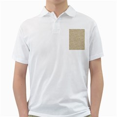 Old Floral Crochet Lace Pattern beige bleached Golf Shirts