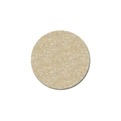 Old Floral Crochet Lace Pattern beige bleached Golf Ball Marker (4 pack)