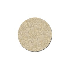 Old Floral Crochet Lace Pattern beige bleached Golf Ball Marker (10 pack)