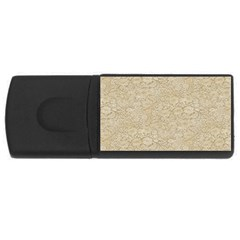 Old Floral Crochet Lace Pattern beige bleached USB Flash Drive Rectangular (1 GB)