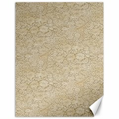 Old Floral Crochet Lace Pattern beige bleached Canvas 12  x 16