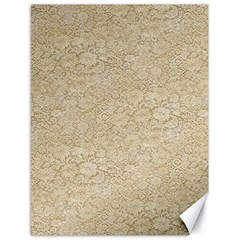 Old Floral Crochet Lace Pattern beige bleached Canvas 18  x 24