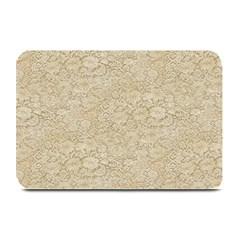 Old Floral Crochet Lace Pattern beige bleached Plate Mats
