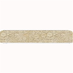 Old Floral Crochet Lace Pattern beige bleached Small Bar Mats