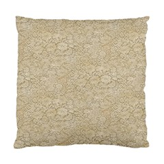 Old Floral Crochet Lace Pattern beige bleached Standard Cushion Case (One Side)