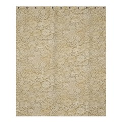 Old Floral Crochet Lace Pattern beige bleached Shower Curtain 60  x 72  (Medium)