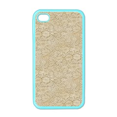 Old Floral Crochet Lace Pattern beige bleached Apple iPhone 4 Case (Color)
