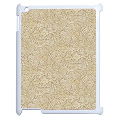 Old Floral Crochet Lace Pattern Beige Bleached Apple Ipad 2 Case (white)