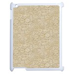 Old Floral Crochet Lace Pattern beige bleached Apple iPad 2 Case (White) Front