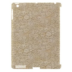 Old Floral Crochet Lace Pattern beige bleached Apple iPad 3/4 Hardshell Case (Compatible with Smart Cover)