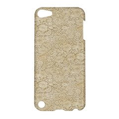 Old Floral Crochet Lace Pattern beige bleached Apple iPod Touch 5 Hardshell Case