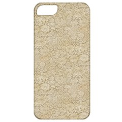 Old Floral Crochet Lace Pattern beige bleached Apple iPhone 5 Classic Hardshell Case