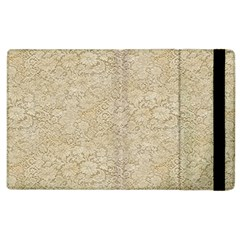 Old Floral Crochet Lace Pattern beige bleached Apple iPad 3/4 Flip Case