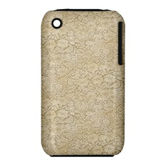 Old Floral Crochet Lace Pattern beige bleached iPhone 3S/3GS