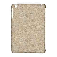 Old Floral Crochet Lace Pattern beige bleached Apple iPad Mini Hardshell Case (Compatible with Smart Cover)