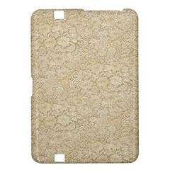 Old Floral Crochet Lace Pattern beige bleached Kindle Fire HD 8.9