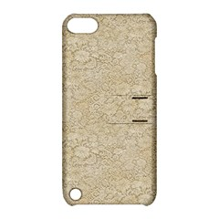 Old Floral Crochet Lace Pattern beige bleached Apple iPod Touch 5 Hardshell Case with Stand