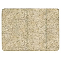 Old Floral Crochet Lace Pattern beige bleached Samsung Galaxy Tab 7  P1000 Flip Case