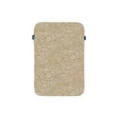 Old Floral Crochet Lace Pattern beige bleached Apple iPad Mini Protective Soft Cases