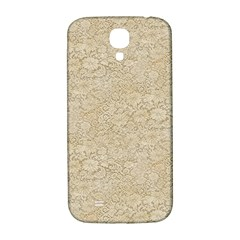 Old Floral Crochet Lace Pattern beige bleached Samsung Galaxy S4 I9500/I9505  Hardshell Back Case