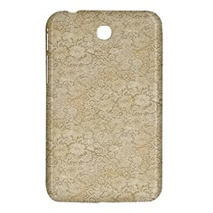 Old Floral Crochet Lace Pattern beige bleached Samsung Galaxy Tab 3 (7 ) P3200 Hardshell Case
