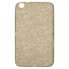 Old Floral Crochet Lace Pattern beige bleached Samsung Galaxy Tab 3 (8 ) T3100 Hardshell Case
