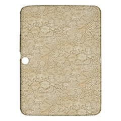 Old Floral Crochet Lace Pattern beige bleached Samsung Galaxy Tab 3 (10.1 ) P5200 Hardshell Case