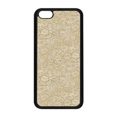Old Floral Crochet Lace Pattern beige bleached Apple iPhone 5C Seamless Case (Black)