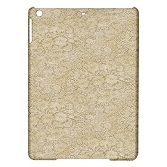 Old Floral Crochet Lace Pattern beige bleached iPad Air Hardshell Cases