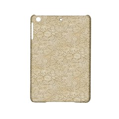 Old Floral Crochet Lace Pattern beige bleached iPad Mini 2 Hardshell Cases