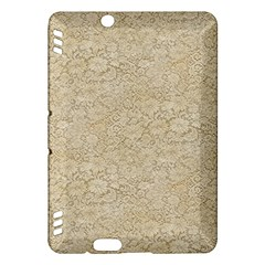 Old Floral Crochet Lace Pattern beige bleached Kindle Fire HDX Hardshell Case