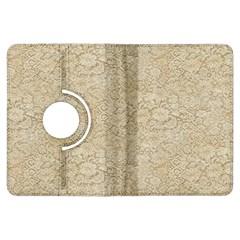 Old Floral Crochet Lace Pattern beige bleached Kindle Fire HDX Flip 360 Case