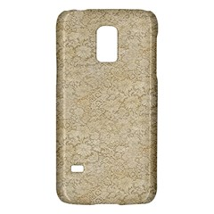 Old Floral Crochet Lace Pattern beige bleached Galaxy S5 Mini