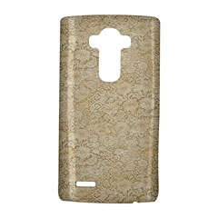 Old Floral Crochet Lace Pattern Beige Bleached Lg G4 Hardshell Case