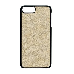 Old Floral Crochet Lace Pattern Beige Bleached Apple Iphone 7 Plus Seamless Case (black)