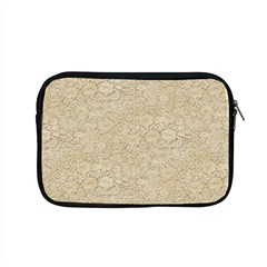 Old Floral Crochet Lace Pattern Beige Bleached Apple Macbook Pro 15  Zipper Case