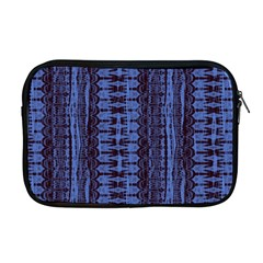 Wrinkly Batik Pattern   Blue Black Apple Macbook Pro 17  Zipper Case