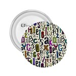 Colorful Retro Style Letters Numbers Stars 2.25  Buttons Front