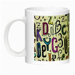 Colorful Retro Style Letters Numbers Stars Night Luminous Mugs