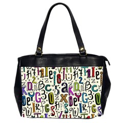 Colorful Retro Style Letters Numbers Stars Office Handbags (2 Sides)