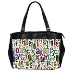 Colorful Retro Style Letters Numbers Stars Office Handbags (2 Sides)  Front