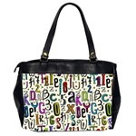Colorful Retro Style Letters Numbers Stars Office Handbags (2 Sides)  Back