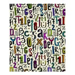 Colorful Retro Style Letters Numbers Stars Shower Curtain 60  x 72  (Medium)  54.25 x65.71 Curtain