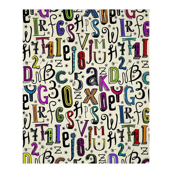 Colorful Retro Style Letters Numbers Stars Shower Curtain 60  x 72  (Medium)