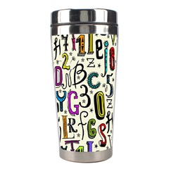 Colorful Retro Style Letters Numbers Stars Stainless Steel Travel Tumblers