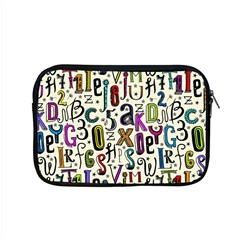 Colorful Retro Style Letters Numbers Stars Apple Macbook Pro 15  Zipper Case